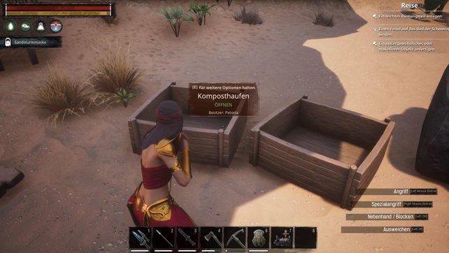 Bis unser Komposthaufen in Conan Exiles stand, haben wir lange gerätselt.