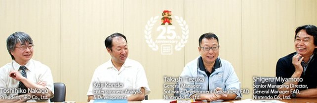 Noch 2010 erinnern sich die Mario-Schöpfer lachend an damals, als sie den Klempner gerufen haben. Links sitzt Toshihiko Nakago, einer der beiden Programmierer von Super Mario Bros.