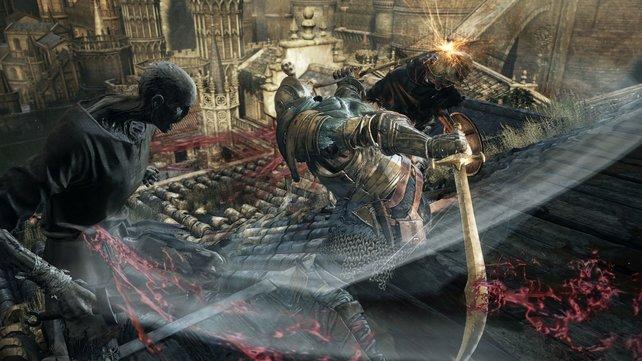 Mit zwei Säbeln und der Wirbelattacke trefft ihr mehrere Gegner auf einmal.
