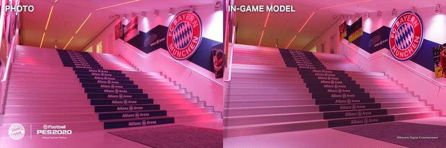 Links oder rechts? Das Original ist vom Stadion aus dem Spiel kaum noch zu unterscheiden.