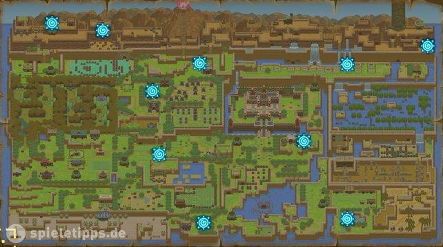 Es gibt insgesamt 10 Teleporter in Zelda: Link's Awakening.