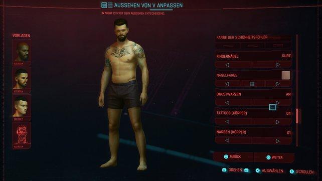 Im Charaktereditor von Cyberpunk 2077 ist das Geschlecht nicht das einzige, das ihr wortwörtlich anpassen könnt.