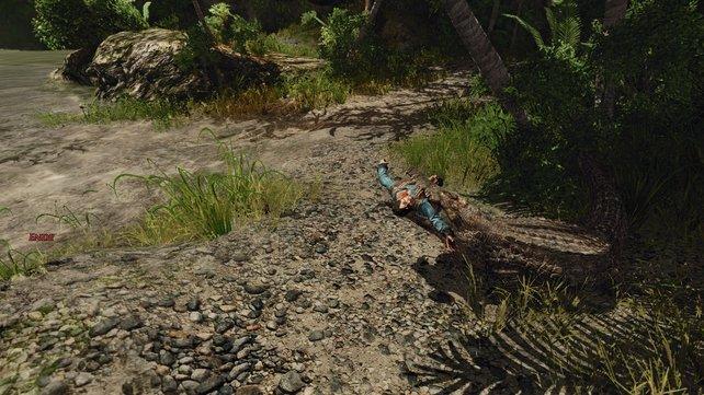 Wollt ihr nicht als Krokodilfutter enden, dann nehmt am besten Patty als Begleitung mit und speichert direkt vor dem Alligator.