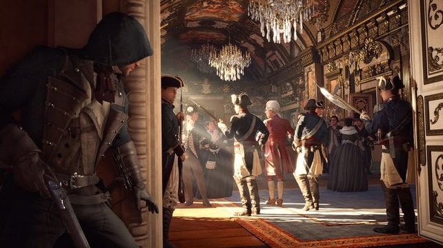 Die Wachen warten nur auf einen Assassinen, der versucht einen Adligen zu meucheln.