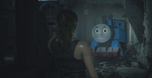 Nicht nur in Skyrim ist Thomas, die kleine Lokomotive als Mod zu finden