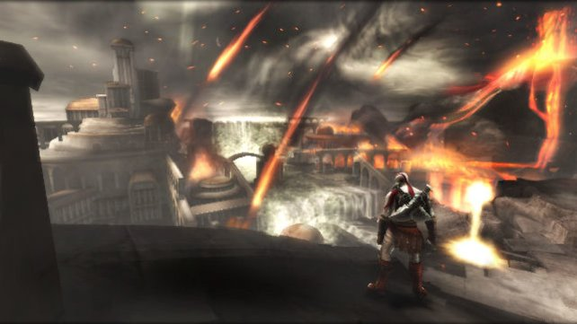 Geist von Sparta: Wie so oft, hüpft Kratos von einer Misere in die nächste.
