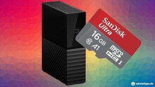 Festplatten und SD-Karten stark reduziert