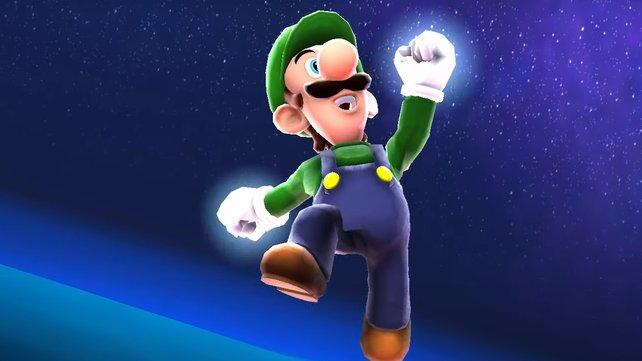 Im Vergleich zu Mario kann Luigi deutlich höher springen.