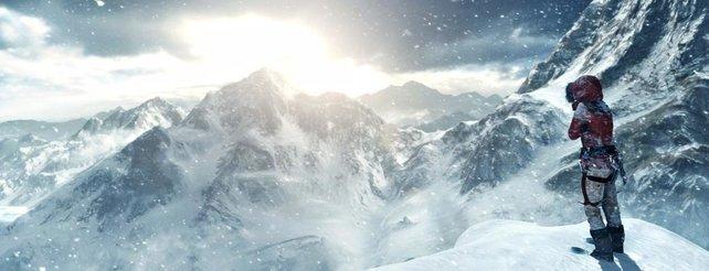 Ganz schön kalt: In Rise of the Tomb Raider hat Lara Croft öfters zum Wintermantel gegriffen.