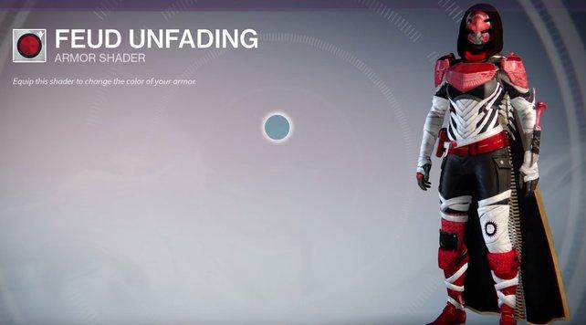 Feud Unfading: Schöne Kombi aus rot, schwarz und weiß.
