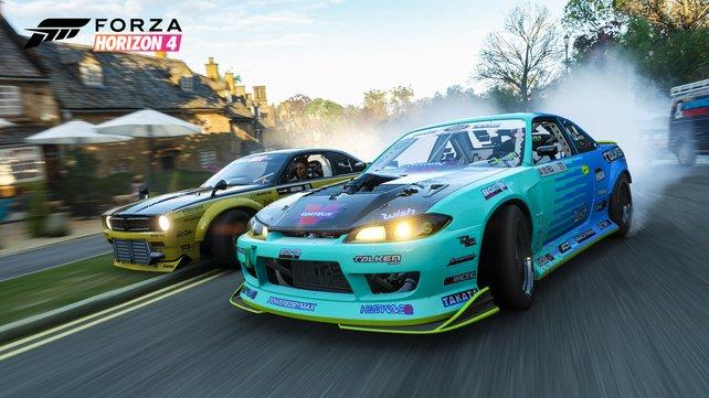 Optisch spielt Forza Horizon 4 in einer ganz eigenen Liga. Bis auf die wenigen Ruckeleinlagen passt hier alles.