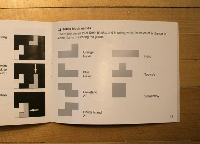 Hier seht ihr die Namen der Tetris-Blöcke aufgelistet