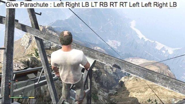 Ein Cheat in GTA 5 erlaubt es Spielern, einen Fallschirm zu erhalten.