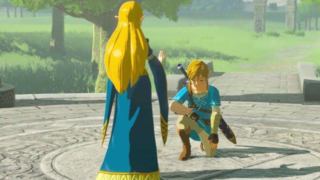 Großes Kino: Prinzessin Zelda ernennt Link zum Recken.