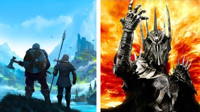 Lebt Sauron künftig in Valheim? Mit dem Bauwerk eines Spielers jetzt schon. (Bildquelle: Warner Bros.)