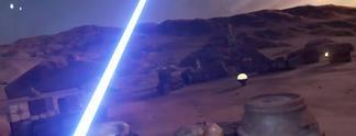 """Star Wars: """"Virtual Reality""""-Experiment mit Lichtschwert"""