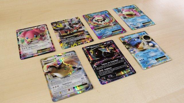 Durch ihren speziellen Glanz-Druck lässt sich schon erahnen, dass Pokémon-EX einen gewissen Wert haben.