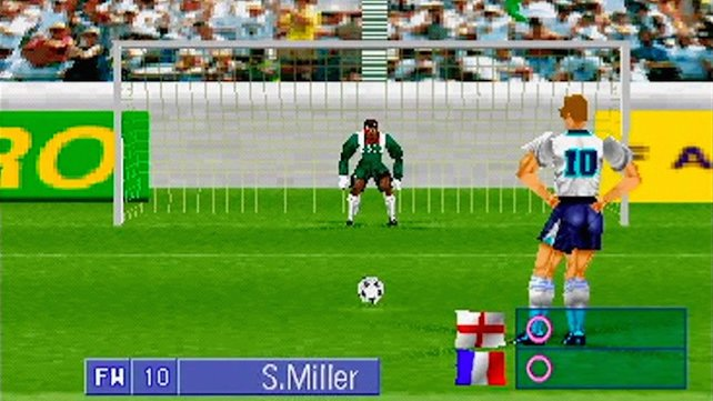 Goal Storm: Frankreich gegen England war schon 1996 ein packendes, virtuelles Duell.