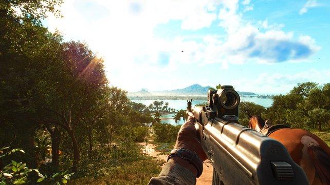 In Far Cry 6 gibt es reichlich zu tun. Es gibt so viele Aufgaben, dass für so einen Ausblick kaum Zeit bleibt.