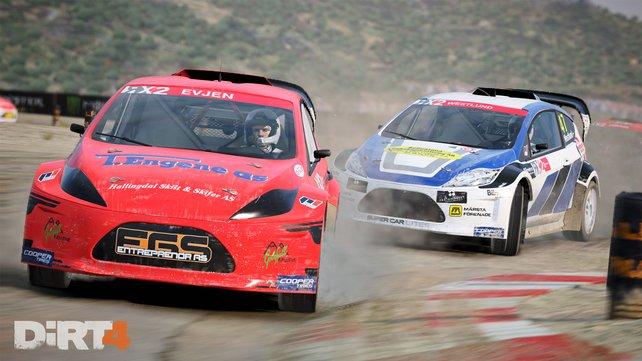 Ihr tretet auch wieder beim fordernden Rallycross an.