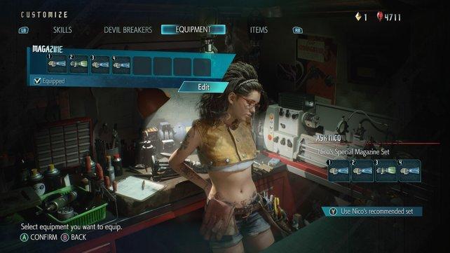 Neu hinzugekommen: Nico versorgt in ihrem Shop Nero mit Devil Arms.