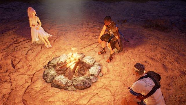 Alternativ nutzt ihr Lagerfeuer, um eure Gruppe zu heilen oder für sie zu kochen.