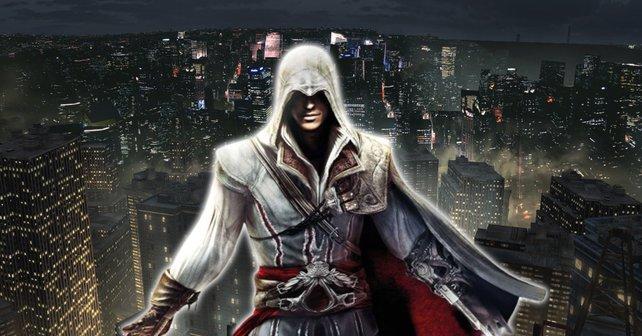 """Reddit-User Amino-Jack glaubt, dass ein moderner Assassine auch moderne Waffen verwendet. Eine erste Zeichnung für das Zukunfts-""""Assassin's Creed"""" hat er gleich mitgeliefert."""