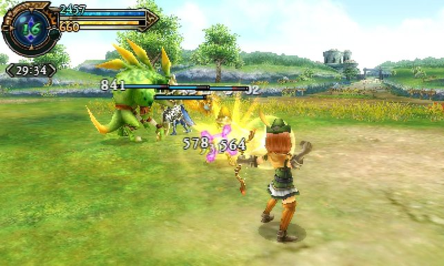 Im Gegensatz zu Monster Hunter zeigt Final Fantasy Explorers alle Werte auch in Zahlen.