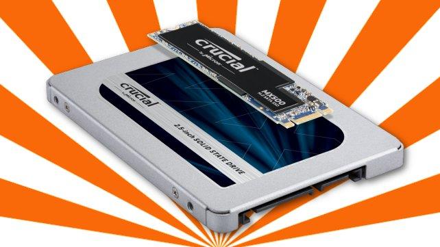 Crucial-SSDs bei Notebooksbilliger.