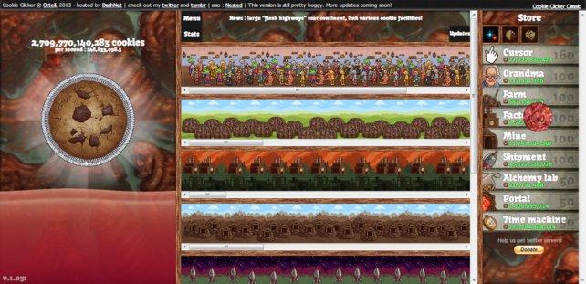 In Cookie Clicker geht es nicht um die Wurst, sondern um den Keks.