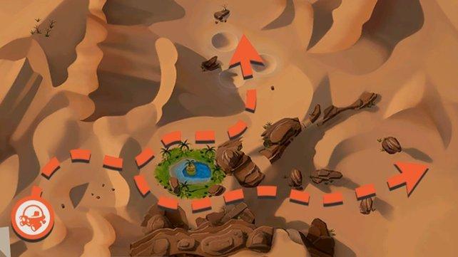 Wüsten-Karte mit allen Routen.