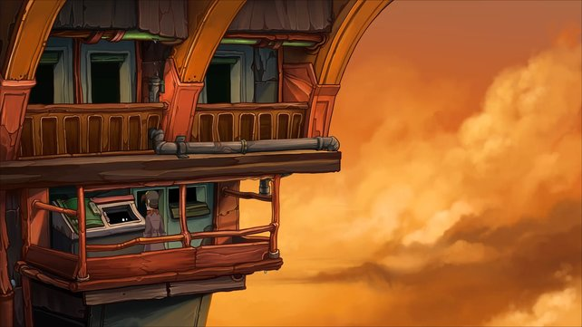 Auf dem Balkon müssen wir auf außerordentliche Methoden zurückgreifen.
