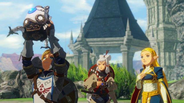 Besuch aus der Zukunft: Der kleine Wächter will Zelda, Link und die anderen warnen.