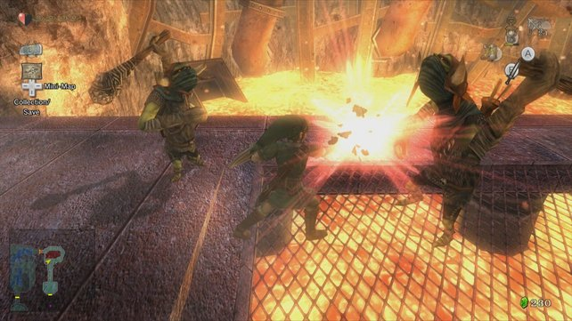 Im Heldenmodus kommt ihr ganz schön in Schwitzen - nicht nur im heißen Lava-Labyrinth.