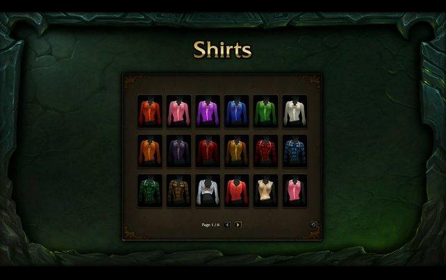 In eurem Kleiderschrank findet ihr nun all eure Sachen und könnt euch so einkleiden.
