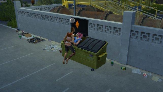 Im Müllcontainer könnt ihr nicht nur Müll, sondern vielleicht auf die große Liebe finden.