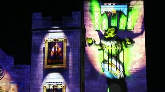 Light Projection on a Castle - The Sleeping Prince