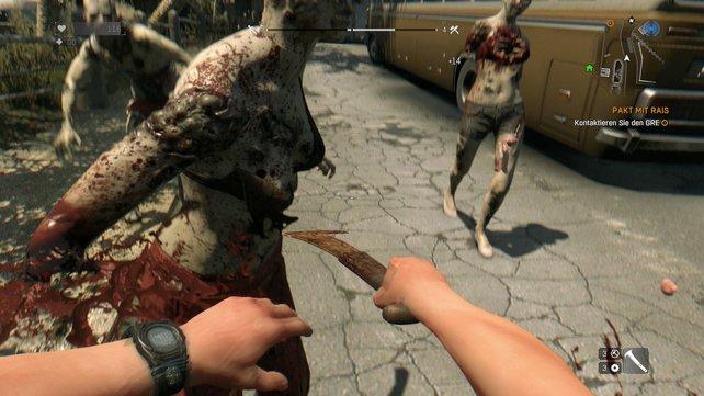 Euer Lieblingsmesser hat schon viele Zombies aufgeschlitzt, doch irgendwann ist es kaputt.
