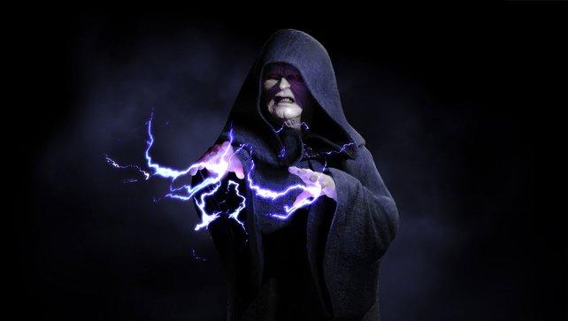 So sieht der ikonische Schurke aus, wenn er seine Blitze verschießt.