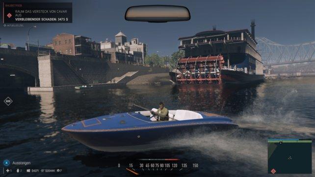 Lincoln unterwegs im Boot. Die Gegend haben die Entwickler toll eingefangen.