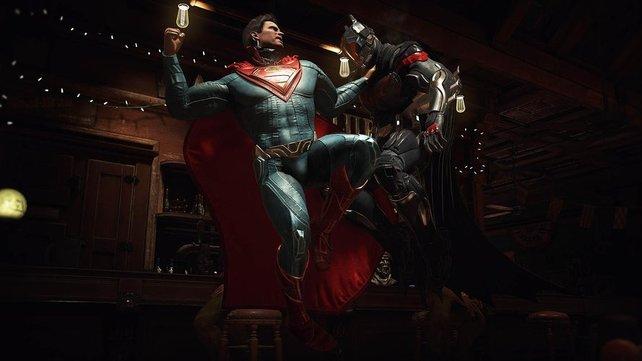 Batman und Superman sind die berühmtesten Kämpfer des Prügelspiels.