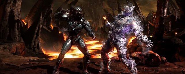 Cyber Sub-Zero gegen seine Version aus Fleisch und Blut.