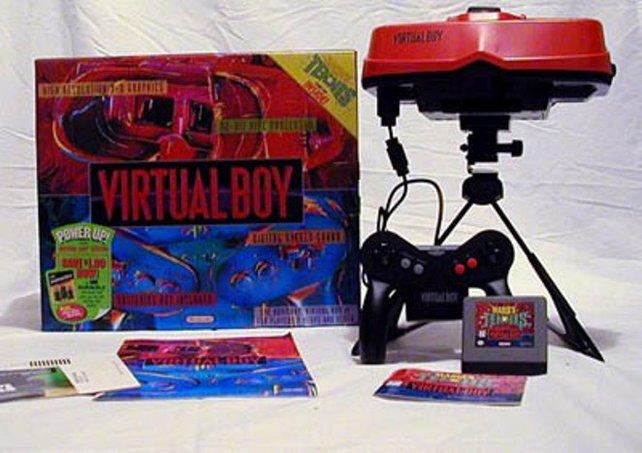 Wer zu Hause seinen geliehenen Virtual Boy auspackt, mag sich vom futuristischen Design zunächst noch täuschen lassen.