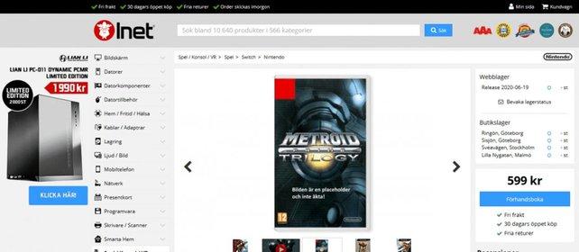 Laut der Website Inet, wird die Metroid Prime Trilogy bereits im Juni erscheinen. Bild: Inet