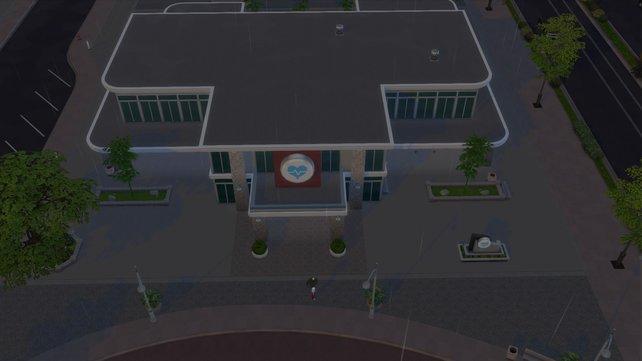 Das Krankenhaus ist ein interaktiver Schauplatz. Ihr könnt nur dorthin reisen, wenn ihr zur Arbeit geht.