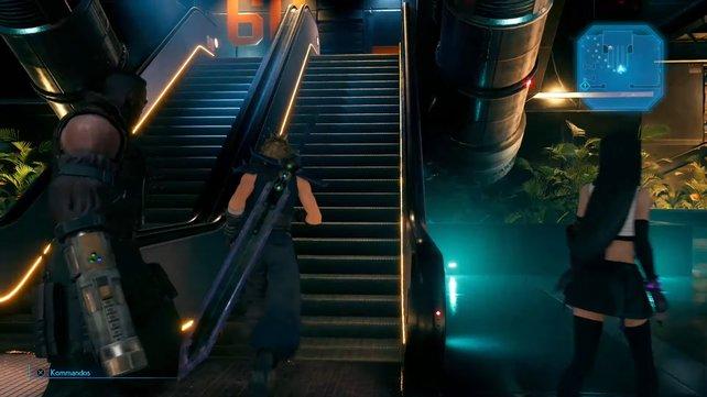 Einmal mehr gilt es für euch, nach Rolltreppen Ausschau zu halten, um voranzukommen.