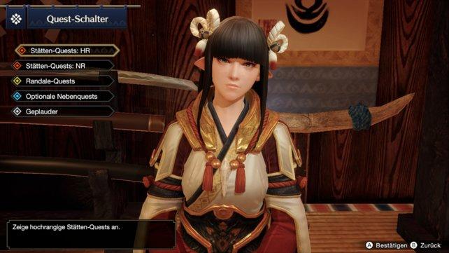 Beim Quest-Schalter könnt ihr zwischen Low Rank und High Rank wählen, sofern ihr Letzteren freigeschaltet habt.