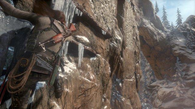 Laras Klettertouren und Action-Trips sind eine echte Augenweide auf der PS4 Pro.