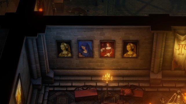 Der einzige Hinweis zur Lösung des Rätsels sind diese Gemälde.