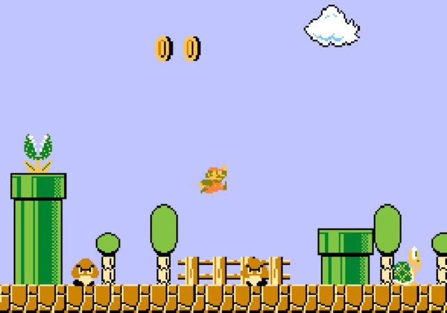 Beide Universen entstehen zeitgleich und entstammen denselben Köpfen. Die Feuerbarrieren zum Beispiel gibt es nicht nur in Marios Welt.
